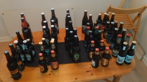 Picture of the beers in the blind test
