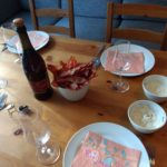 Bacon, dip and lambrusco