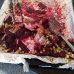Baked beets, bacon, walnuts and feta cheese